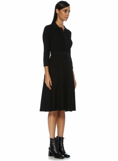 Beymen Club Uzun Kollu Midi Elbise Siyah